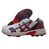 Kuaike Rubber Studs Cricket Shoes Red and Black
