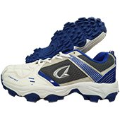 Kuaike Storke Rubber Stud Cricket Shoes White and Blue