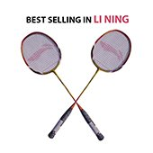 Set of 2 Li Ning Smash XP 90 Badminton Racket Set