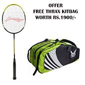 Offer Li Ning G Tek 88 Muscle Badminton Racket and Thrax kitbag