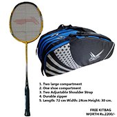 Offer on Li Ning G Force Power 1000 Badminton Racket and Thrax kitbag