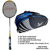 Offer on Li Ning G Force Power 1200 Badminton Racket and Thrax kitbag