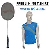 Offer on LI NING G TEK 38 BADMINTON RACKET and Li Ning Badminton T Shirt