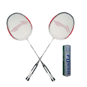 Set of 2 Li Ning Smash XP 80 Racket and Yonex Mavis 07 Badminton Shuttlecock