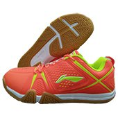 LI NING Idol AYTL079 Badminton Shoes Orange and Lime