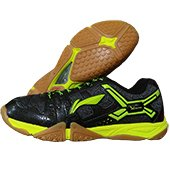 LiNing Razor Court Badminton Shoes Black and Lime