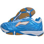 LI NING Turbo Maestro Badminton Shoes Blue and White