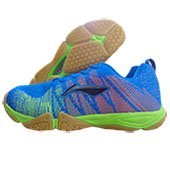 LI NING Bolt Badminton Shoes Blue and Lime