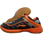 LiNing Play Badminton Shoes Orange and Black