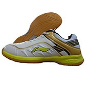 LiNing Play Badminton Shoes White and Yellow