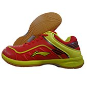 LiNing Play Badminton Shoes Red and Yellow
