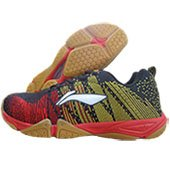 LI NING Bolt Badminton Shoes Black Yellow
