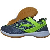 LiNing Camo Star Badminton Shoes Gray and Green