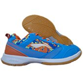 LiNing Camo Star Badminton Shoes Blue and Orange