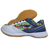 LiNing Camo Star Badminton Shoes White and Blue