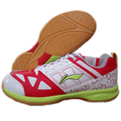 LiNing RIO Badminton Shoes Red and White