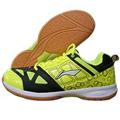 LiNing RIO Badminton Shoes Black and Lime