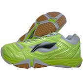 LI NING Turbo Maestro Badminton Shoes Lime and Black