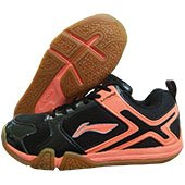 LI NING Volvo Badminton Shoes Black and Orange