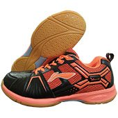 LI NING Cross Badminton Shoes Black and Orange