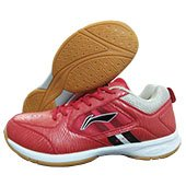 LI NING Icon Plus Badminton Shoes Red and Grey