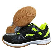 LI NING Star Pro Badminton Shoes Black and Lime