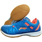 LI NING Star Pro Badminton Shoes Blue and Orange