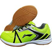 LI NING Liga Badminton Shoes Lime and Black
