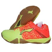 LiNing Glory AYTLO75 3 Badminton Shoes Lime and Orange