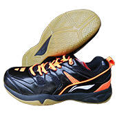 LiNing Alpha Badminton Shoes Black and Orange