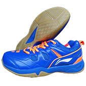 LiNing Alpha Badminton Shoes Blue and Orange