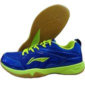 LiNing Jetta Badminton Shoes Blue and Lime
