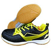 LiNing Vibe Badminton Shoes Black and Lime