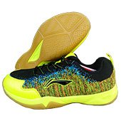LiNing Ion II Super Light Badminton Shoes Black and Lime