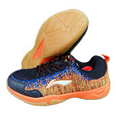 LiNing Ion II Super Light Badminton Shoes Black and Orange