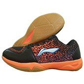 LI NING Ion Badminton Shoes Orange and Black