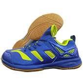 LI NING Brio Badminton Shoes Blue and Lime