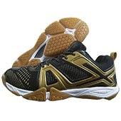 LI NING Omega Badminton Shoes Black and Gold
