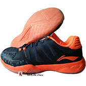 LiNing Elite Badminton Shoes Navy and Orange
