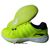LiNing Elite Badminton Shoes Lime and Purple