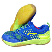 LiNing Armor Badminton Shoes Blue and Lime