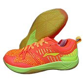 LiNing Armor Badminton Shoes Orange and Lime