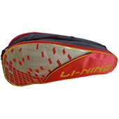 LiNing ABDJ222 Badminton Kit bag Red and Yellow