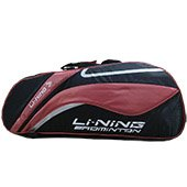 Li Ning ABSL392 5 Badminton kit Bag Black and Neon Orange
