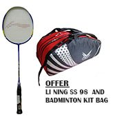 LI Ning SS 98 Racket and Thrax Badminton Kit Bag