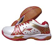 Li Ning Titan Limited Champion Red and White Badminton Shoes