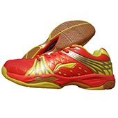 Li Ning Titan Limited Champion Red and Yellow Badminton Shoes