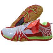 Li Ning HYBrid Badminton Shoes Red and White