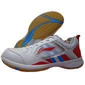 Li Ning Star Icon AYTK071 1 Badminton Shoes White and Red