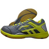 Li Ning Star Icon AYTK071 4 Badminton Shoes Gray and Yellow